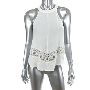 ASTR The Label Size Small Cropped Top White